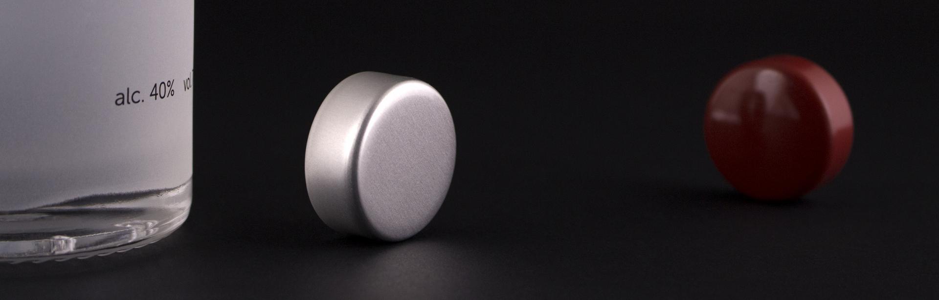 Labrenta screw-on closure in aluminium