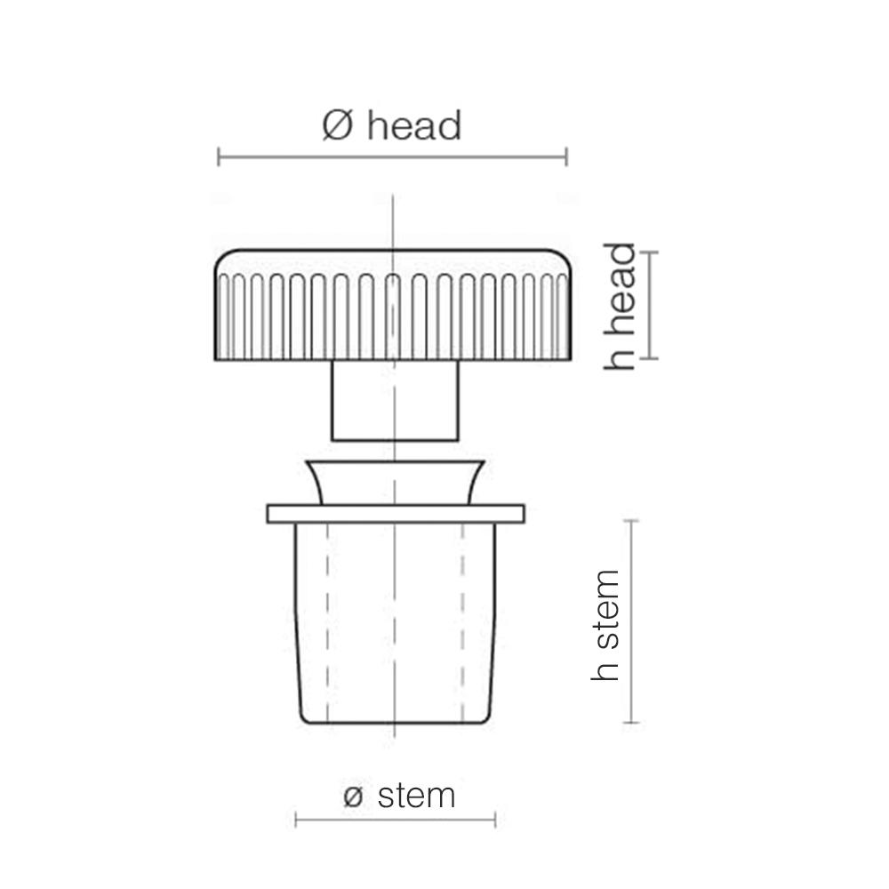 plastic knurled rectangular-technical