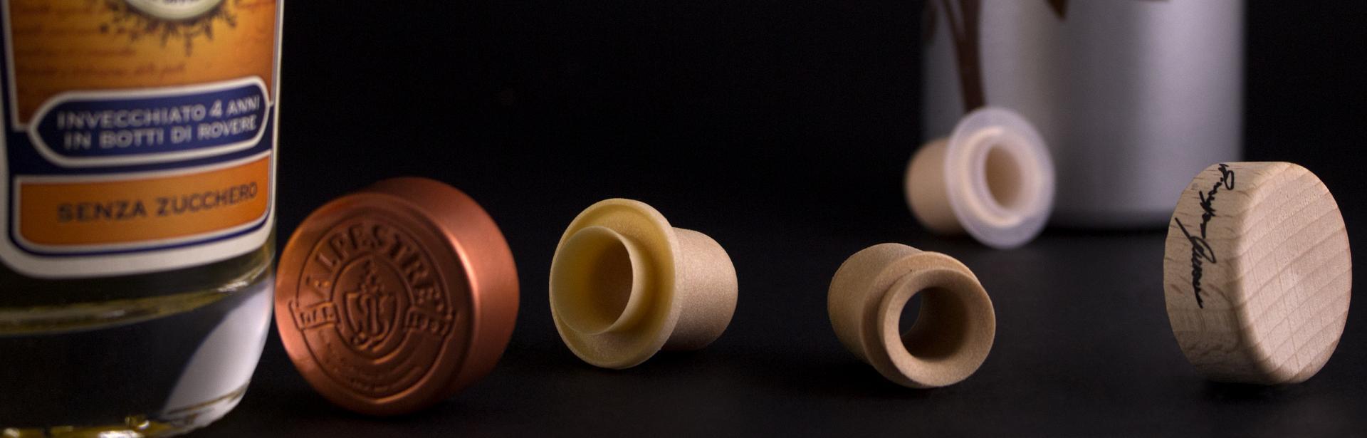 Tappo versatore Labrenta Et Voilà Naked S con testa in legno, plastica o metallo
